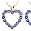 2 CTTW Tanzanite Open Heart Necklace