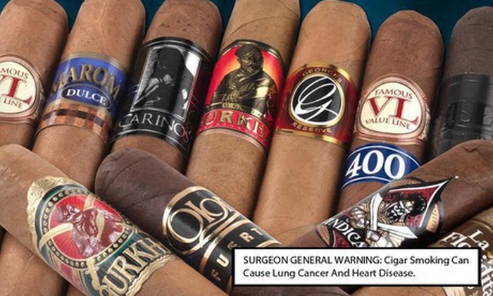 Famous Smoke Shop: Cigar Sampler or Premium Gift Set from Famous Smoke Shop (Up to 59% Off). Three Options Available. Free Shipping.