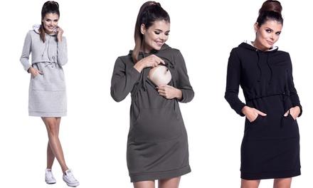 Happy Mama Boutique stillfreundliches Umstandskapuzenkleid aus 95% Baumwolle in der Farbe und Größe nach Wahl (Duesseldorf)