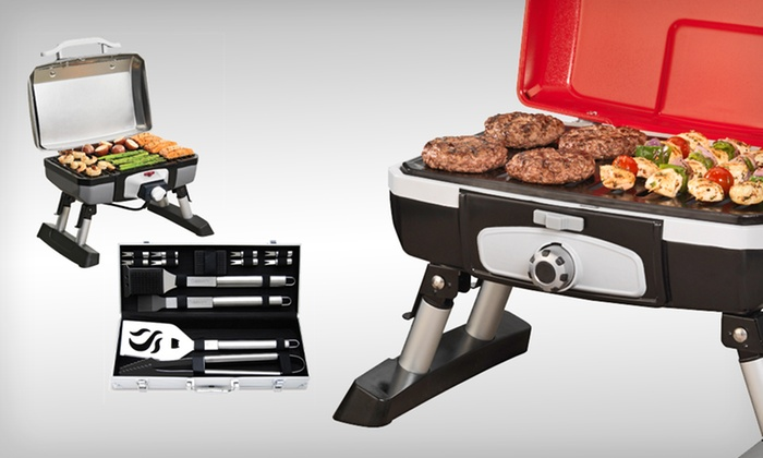 Cuisinart Grilling-Tool Set or Grills: Cuisinart 14-Piece Grilling Set or Portable Gas or Electric Grill (Up to 46% Off). Free Shipping and Free Returns.
