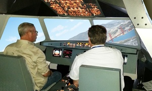 SimJet Center: Flight-Simulator Session for One or Two or a Weekend Jet-Immersion Experience at SimJet Center (Up to 54% Off)