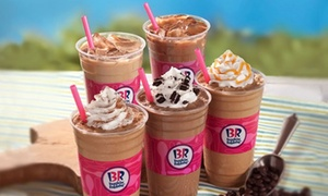 Baskin-Robbins: Family Pack for Four Double Sundaes or 10 Cappuccino Blasts at Baskin-Robbins (44% Off)