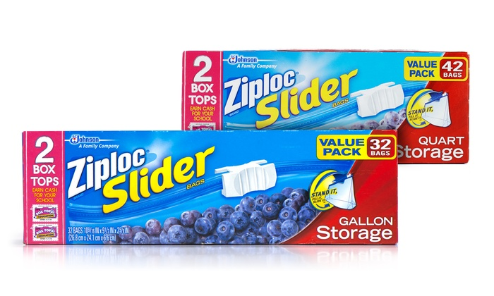 Ziploc Slider Storage Bags 3 Pack