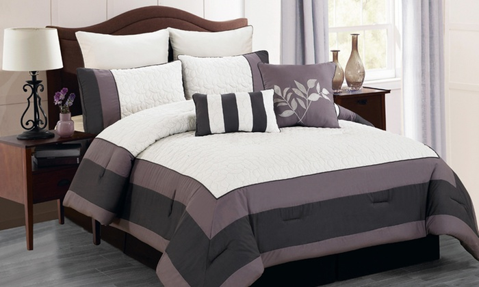 Oversized and Overfilled 8-Piece Comforter Sets: Oversized and Overfilled 8-Piece Comforter Sets. Multiple Styles Available. Free Returns.