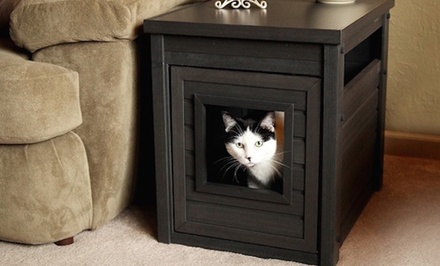 Spring Cat Litter Loo End Table