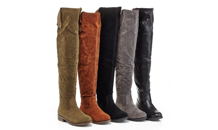 Lady Godiva Women's Over the Knee Boots