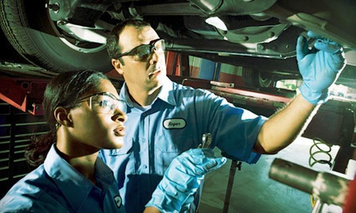 Serra Toyota - Birmingham: Oil Change, Tire Rotation, and Car-Wash Token or Nitrogen Tire Treatment at Serra Toyota (Up to 58% Off)
