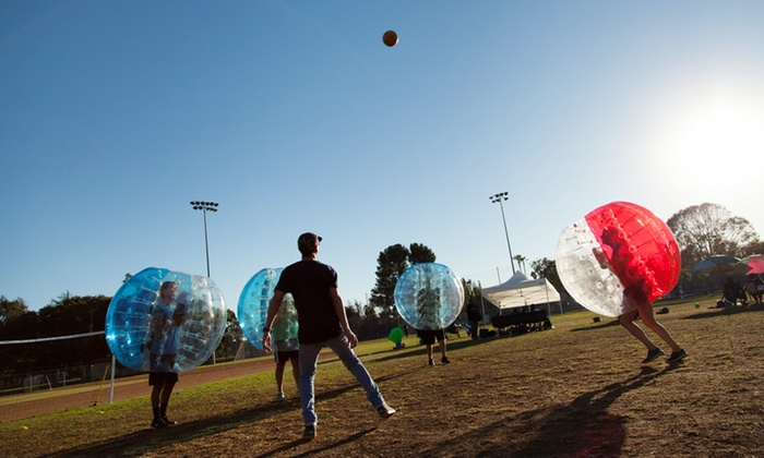 Stratus Sports Club - Jim Gilliam Park: One Game of Bubble Soccer for Up to 8 or 12 from Stratus Sports Club (Up to 53% Off)