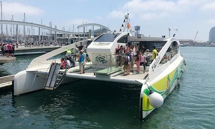 Paseo en catamarán por el Port Vell con refresco y patatas para 2, 4, 6 u 8 personas desde 15 € con BC Naval Tours