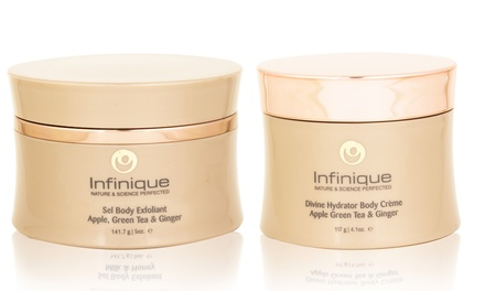 2-Pack of Infinique Body Exfoliant and Divine Hydrator Body Creme