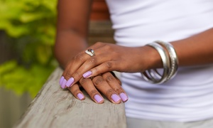 Rex Nails: $35 for Mani-Pedi with Hot Towels, Hot Stones, and Hand Paraffin Wax at Rex Nails ($62 Value)