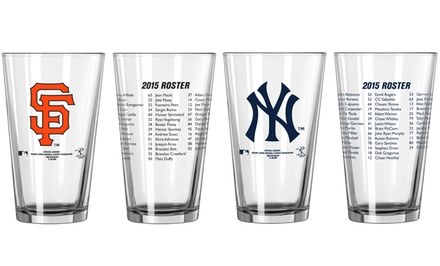 Preorder: 2-Pack of MLB Opening-Day Roster Pint Glasses