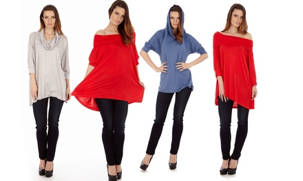 Women's Four-Way Top in Regular and Plus Sizes