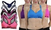 6-Pack of Women's 32D-42D Padded Sports Bras