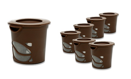 6-Pack of Reusable Coffee Pods. Free Returns.