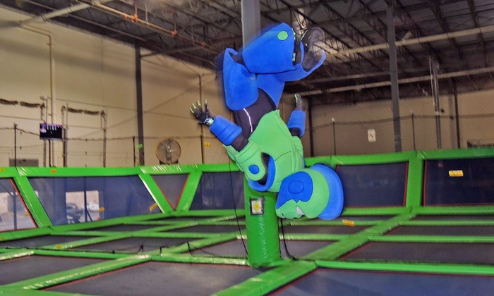 Rebounderz - Edison: Trampoline Time or Air Dodgeball for Two or Four, or Party Package for 16 or 20 at Rebounderz (Up to 50% Off)