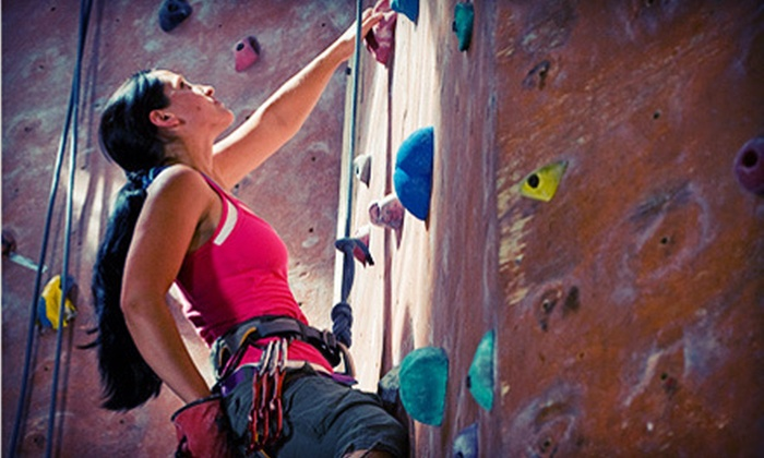 The Factory Bouldering - Orange: Bouldering Package with Lesson, One- or Two- Month Membership, and Shoe Rental at The Factory Bouldering (Up to 81% Off)