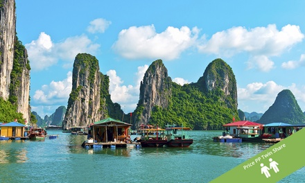Vietnam, Cambodia, Thailand: From $1,799 PP (+ US$17PP Surcharge) for a 15-Day Tour + Cruise with Halong Tours Booking