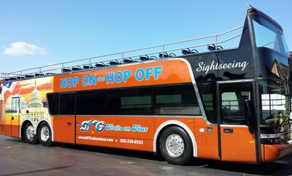 image for Hop-On, Hop-Off Bus Tour of DC for an Adult or Child from DC Trails (Up to 46% Off)
