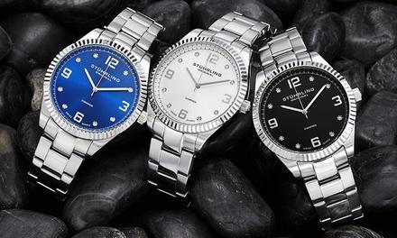 Stührling Original Men's Swiss Watch with Diamond Markers