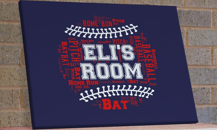 GiftsForYouNow.com: One or Two Custom Sports-Words Art Canvases from GiftsForYouNow.com (Up to 54% Off)