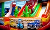bounzCity - Evergreen: Full-Day Unlimited Bounce-House Admission for Two or Four with Arcade Tokens at bounzCity (Up to Half Off)