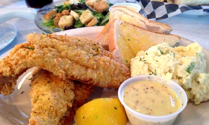 Blue Line Bistro - Covington: Homestyle Cuisine at Blue Line Bistro (Up to 50% Off). Two Options Available.