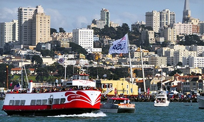 Red and White Fleet - Fisherman's Wharf: California Sunset Cruise with Appetizers for One, Two, or Four from Red and White Fleet (Half Off)