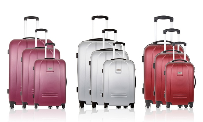 Set De 3 Valises Torrente Groupon Shopping