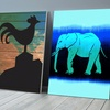 Modern Animal Art on Gallery Wrapped Canvas