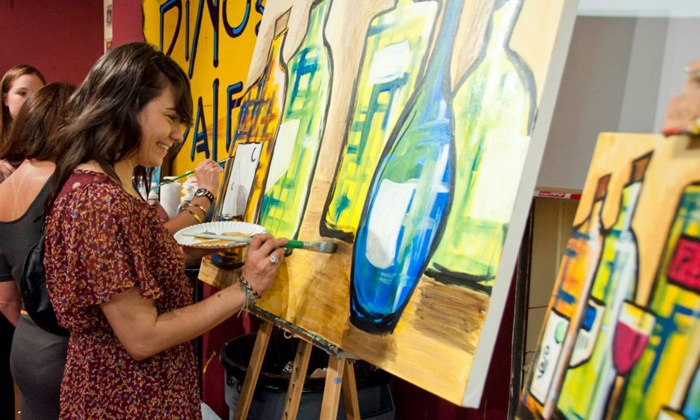 Pinot's Palette - Multiple Locations: $23 for a Three-Hour BYOB Painting Class at Pinot's Palette ($45 Value)