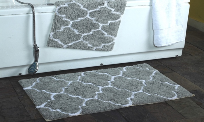 Clearance: Moroccan Trellis Cotton Bath Rug Set (2-Pack ...