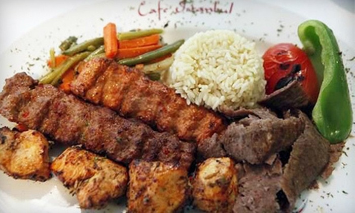 Istanbul Cafe - Central Business District: Mediterranean Food at Istanbul Cafe (Up to 56% Off). Two Options Available.