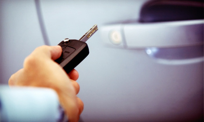 SK Customs - Norcross: $199 for a Remote Car Starter with Installation and Two Remotes at SK Customs ($400 Value)