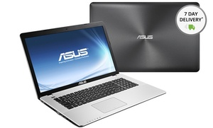 Asus 17.3 In. Notebook With 3.4ghz Intel Quad-core Processor, 8gb Ram, And 1tb Hard Drive (x750ja-db71). Free Returns.