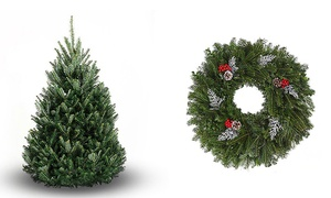 BL Christmas Trees: Home-Delivered Fresh Cut Christmas Trees or Wreath from BL Christmas Trees (Up to 56% Off). Three Options Available.