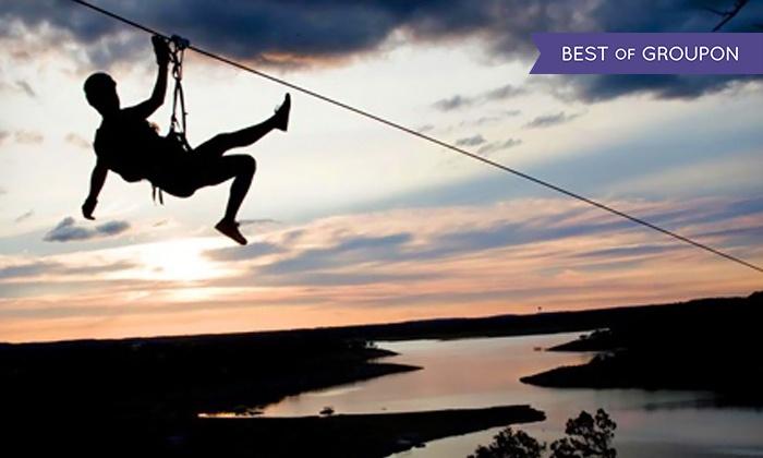 Lake Travis Zipline Adventures - Austin: Zipline Tour for One or Two at Lake Travis Zipline Adventures (Up to 25% Off)