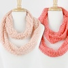 Knit Infinity Scarf with Sequins