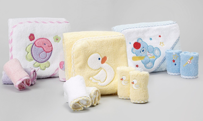 Spasilk Towel and Washcloth Set for Babies: Spasilk Hooded Towel and Washcloth Set for Babies. Multiple Animal Designs Available. Free Returns.