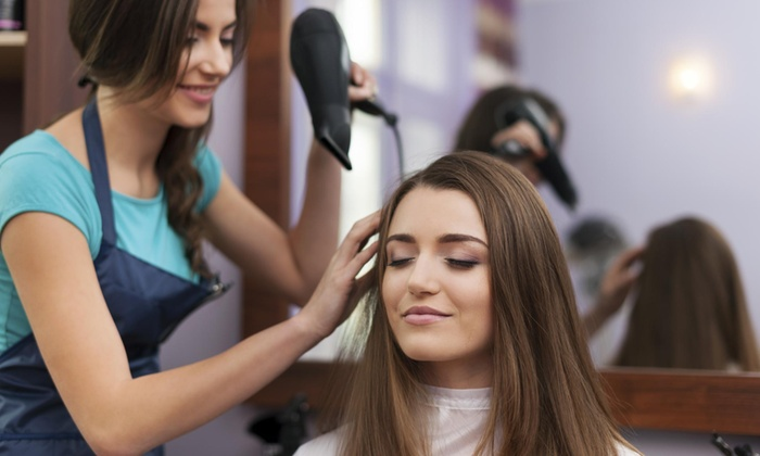 A Beauty Bar - Multiple Locations: Color and Blow-Dry from A Beauty Bar (54% Off)