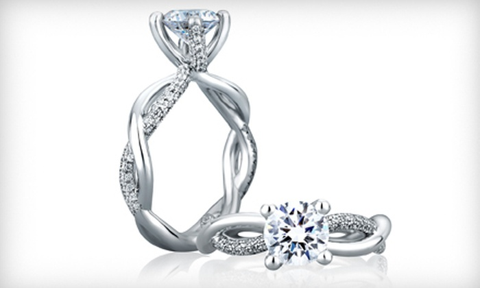 Azzi Jewelers - Lansing: White-Gold Pearl Stud Earrings or $250 for $500 Toward an Engagement Ring at Azzi Jewelers