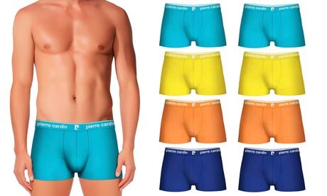 Pack de 8 bóxers Pierre Cardin (2 en naranja, 2 en amarillo, 2 en azul claro, 2 en azul oscuro)