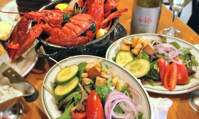 Stella's Fish Cafe - Uptown: $99 for a Lobster Bake for Two with Soup, Salad, Dessert, and Wine at Stella's Fish Cafe ($179 Value)