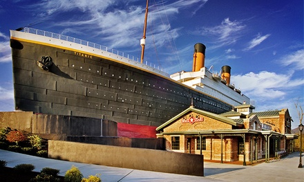 $55 for Two Adult Tickets and Gift Shop Credit to Titanic Pigeon Forge ($79 Value)