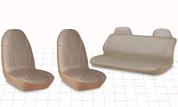 microfiber car seat cover set groupon goods
