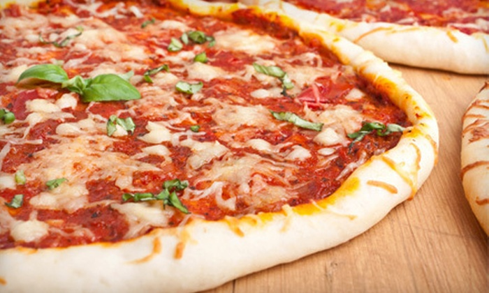 Mona Pizza Langley - Nicomeki: $17 for Two Large Specialty Pizzas and Two-Litre Bottles of Pop at Mona Pizza Langley ($34.99 Value)