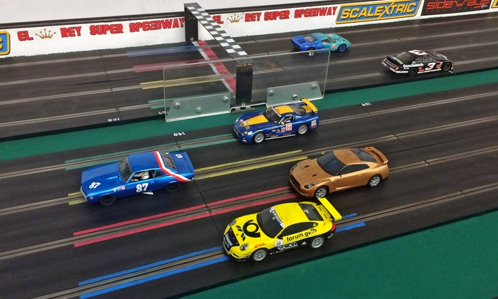 Big Lou's Toys & Collectibles - Sunkist Park: 2 or 3 Hours of 1/32 Scale Slot Car Racing at Big Lou's Toys & Collectibles (Up to 50% Off)