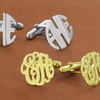 Choice of Block or Script Letter Men's Monogram Cuff Links
