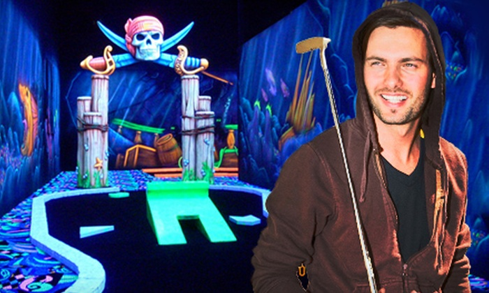 Fin's Glow Zone - Valencia: Unlimited Mini Golf and One Bumper-Car Ride for Two or Four at Fin's Glow Zone in Santa Clarita (Up to 58% Off)