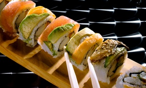 Sushi Spott: Sushi Meal with Pot Stickers and Hot Sake for Two at Sushi Spott (Up to 51% Off). Three Options Available.